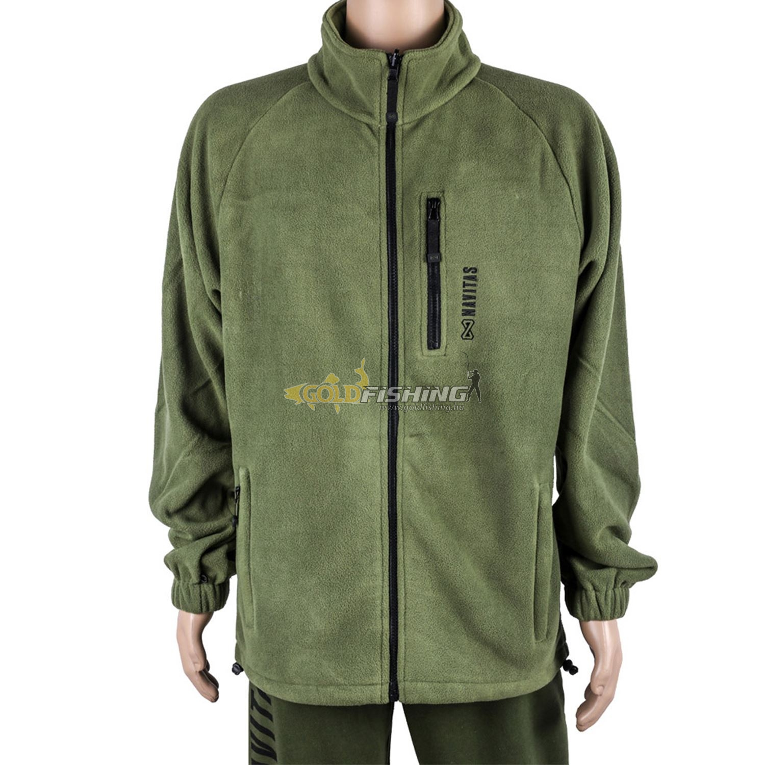 NAVITAS, ATLAS ZIP FLEECE - GREEN L