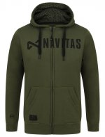 CORE ZIP HOODY   S - GREEN